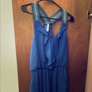Casual Blue Dress with Pockets